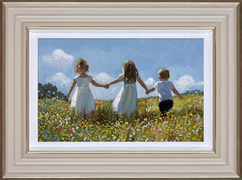 Friendship In The Meadow by Sherree Valentine Daines - Framed Limited Edition Canvas on Board