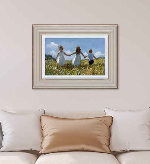Friendship In The Meadow by Sherree Valentine Daines - Limited Edition Canvas on Board wall setting