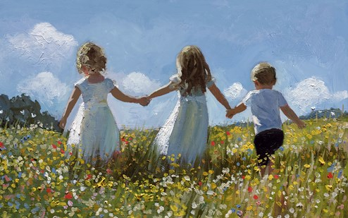Friendship In The Meadow by Sherree Valentine Daines - Limited Edition Canvas on Board